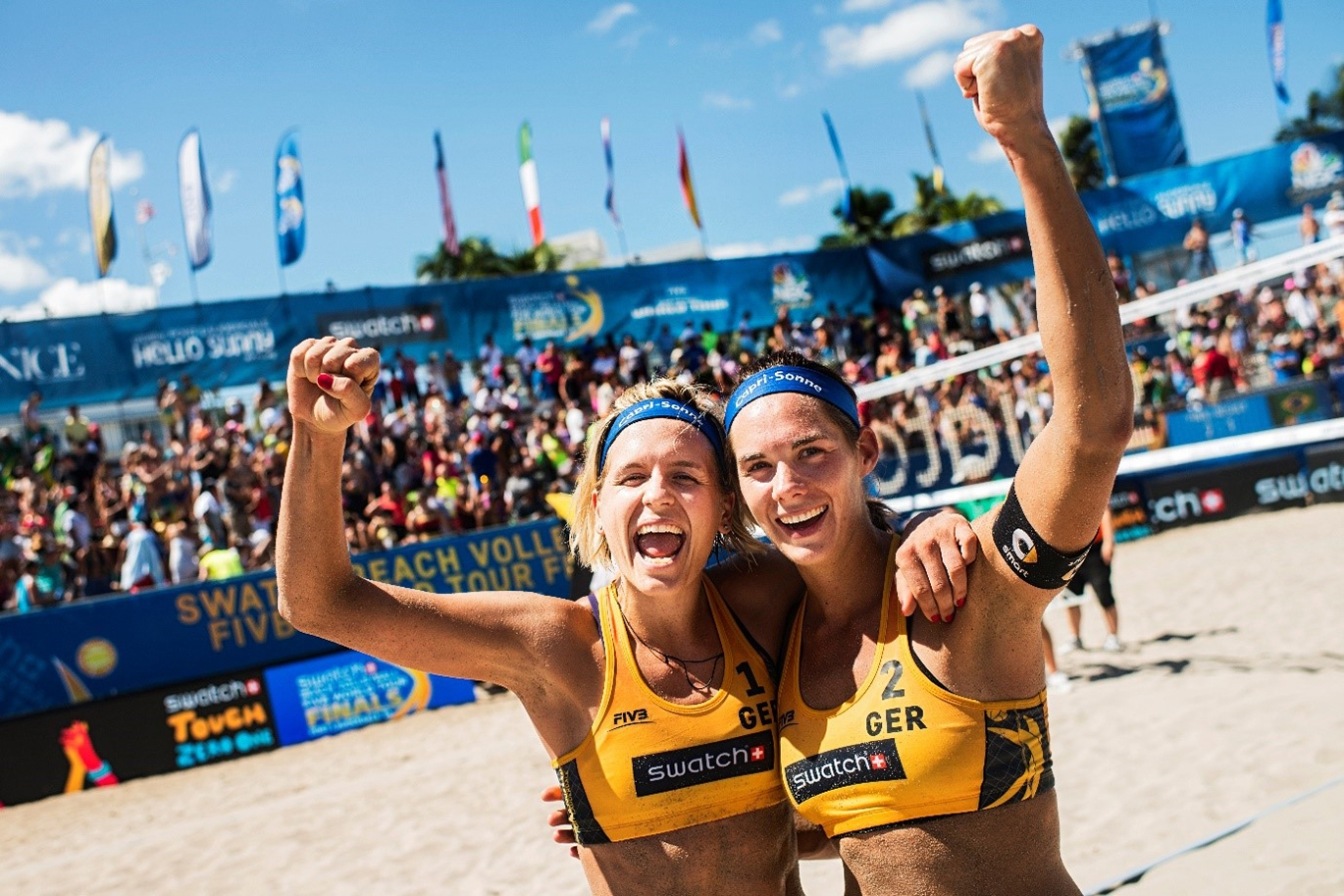 """Hamburg here we come!"" Laura Ludwig and Kira Walkenhorst will be looking forward to playing in their home city in June."