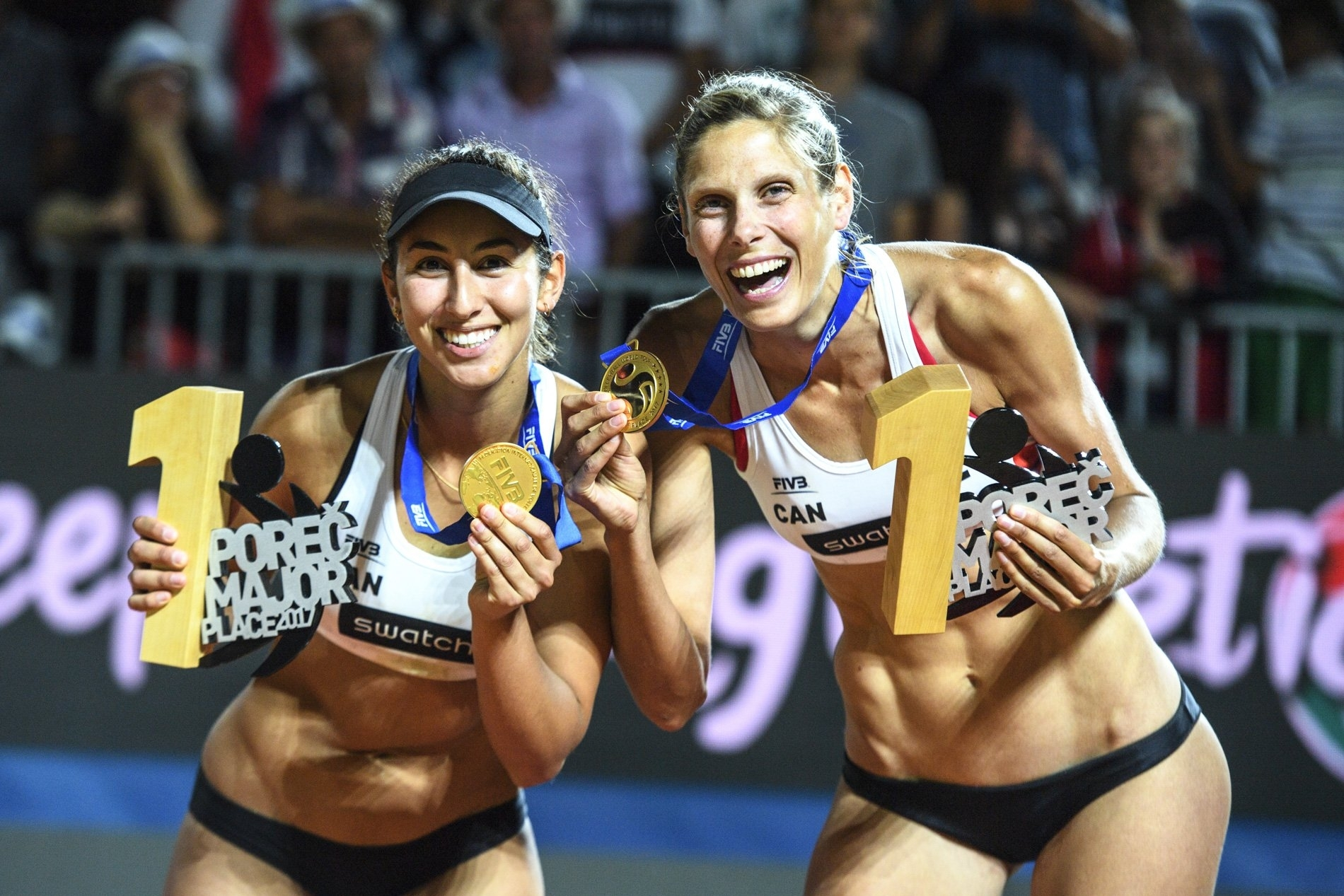 Sarah and Melissa won gold together at the Poreč Major