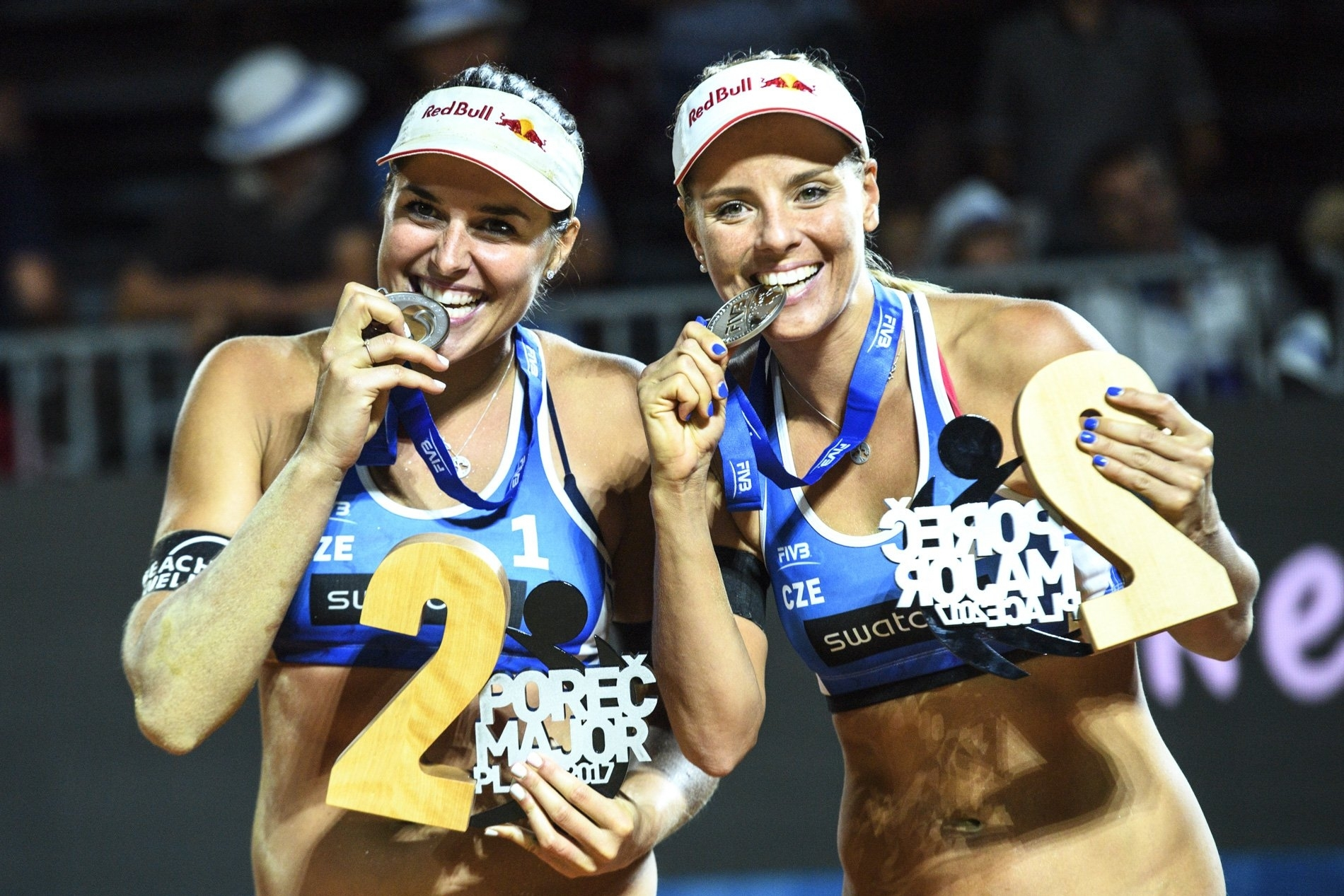 Barbora and Marketa won silver in Croatia at the Poreč Major
