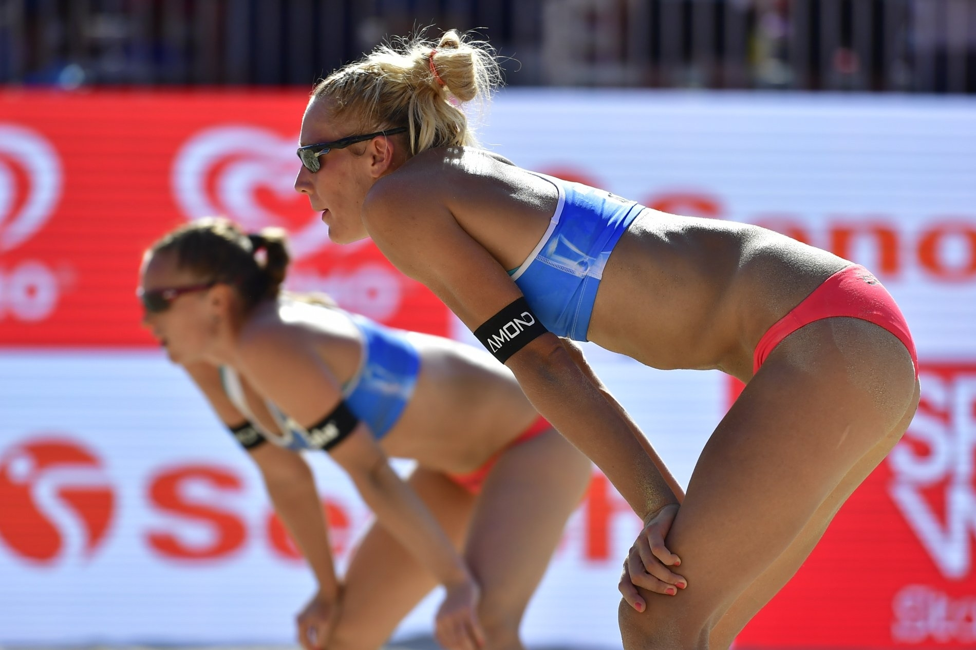 Kristyna and Michala in action during their appearance at the World Championships