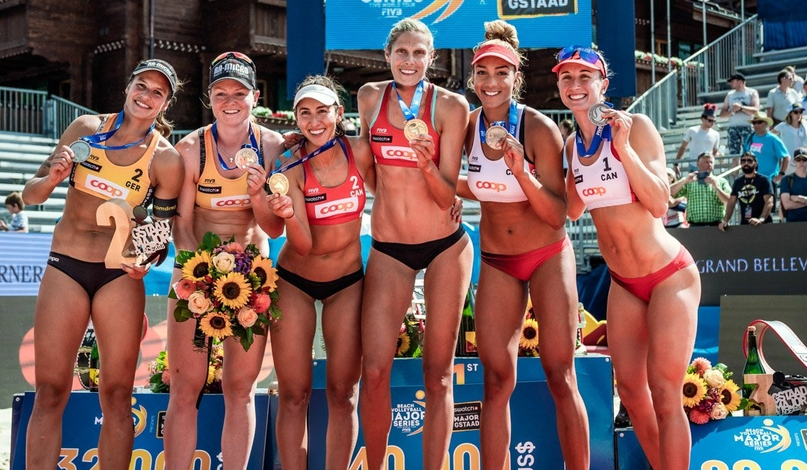 All three women's teams that hit the Gstaad podium are in Hamburg for the World Tour Finals