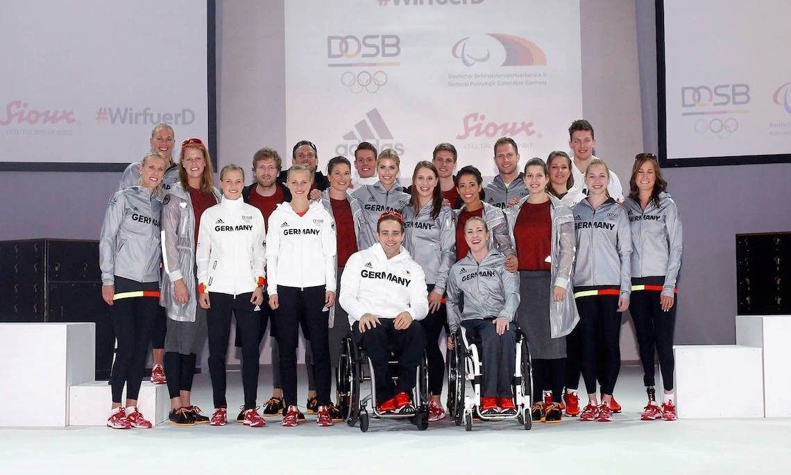 Space silver, bright white and again: some red sparkles should help the German team. Credit: Facebook Page DOSB