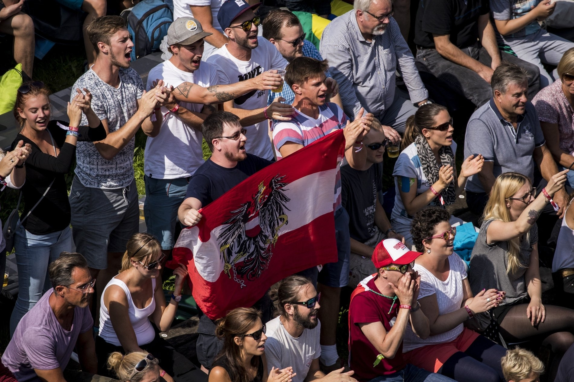 The Austrian fans were once again out in force to back their heroes
