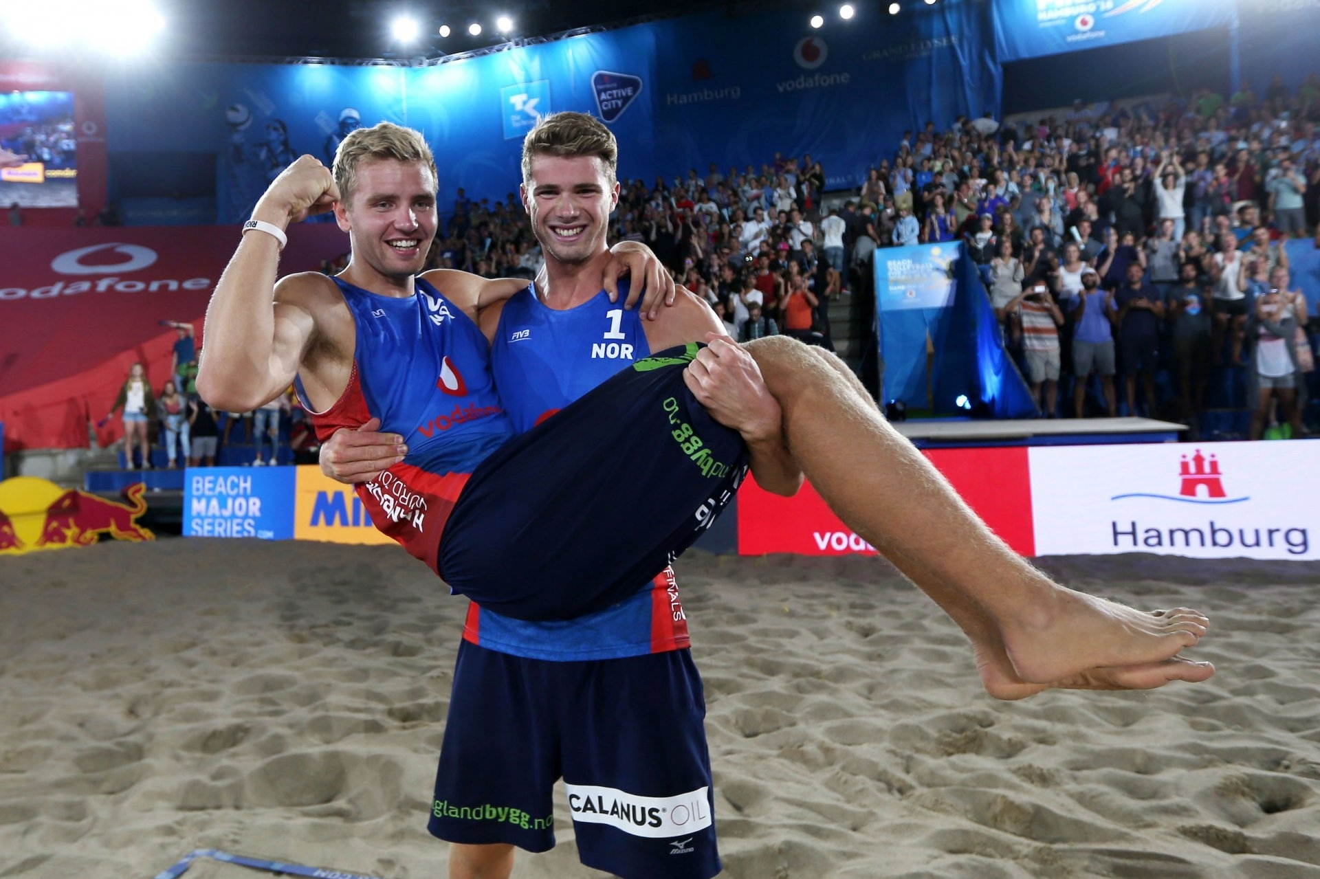 Anders and Christian celebrate their brilliant victory