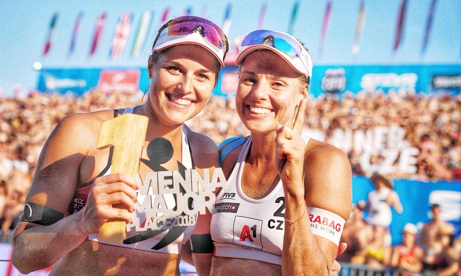 Marketa (left) and Barbora have begun their Hamburg Finals with a victory