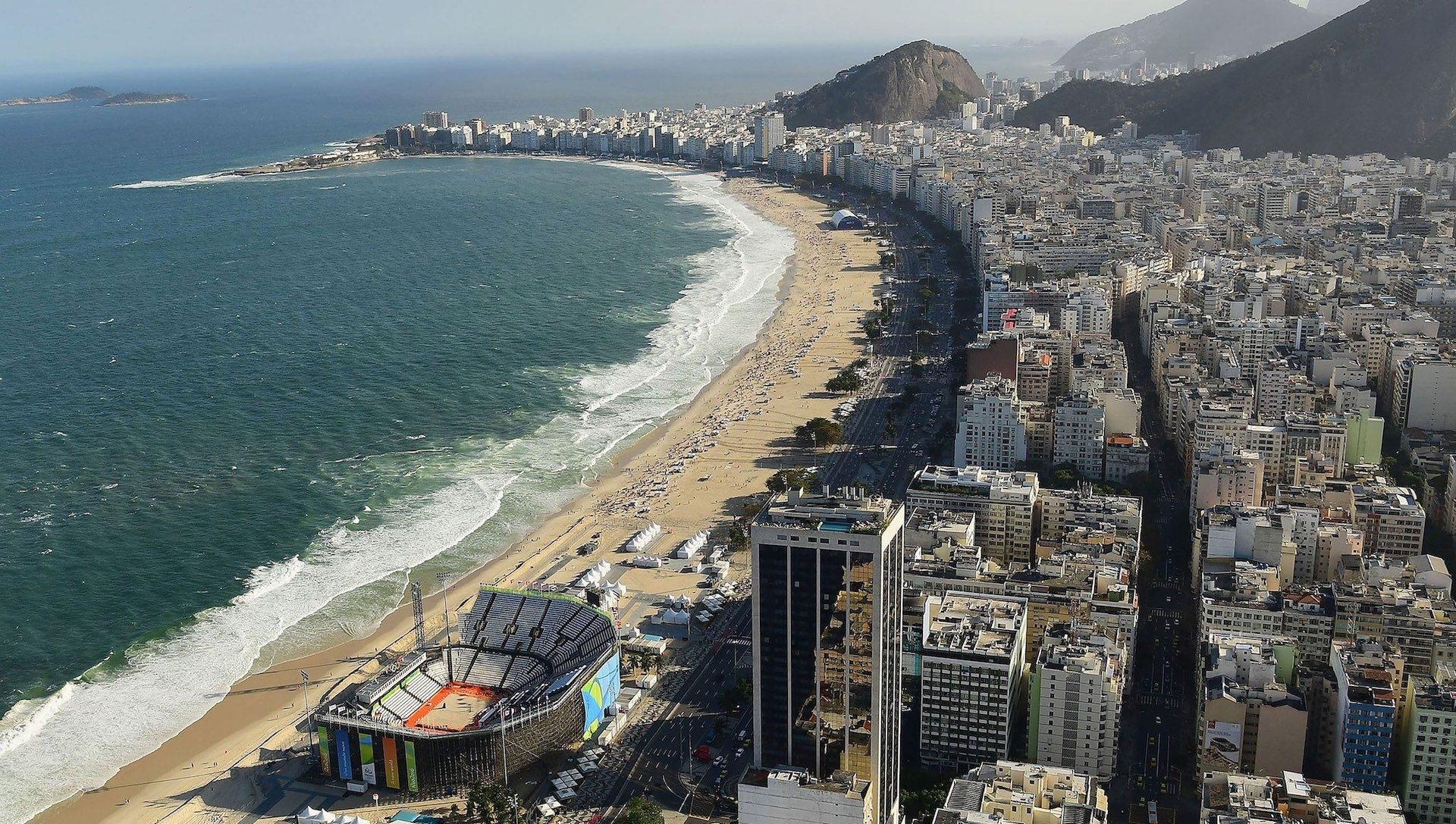 The Copacabana – setting for the Olympics 2016.  Photocredit: Getty Images (taken from www.olympic.org)